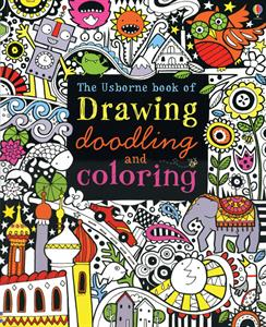 Usborne Drawing Doodling and Coloring book cover art