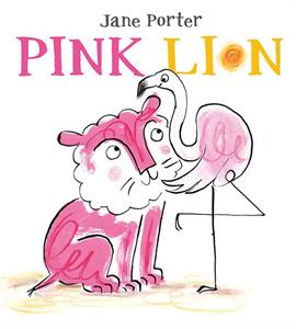 Usborne Pink Lion book cover art