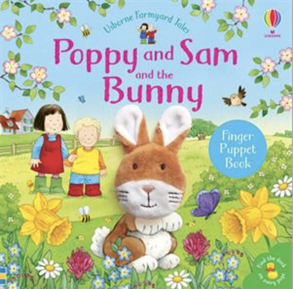 Usborne Poppy and Same and the bunny finger puppet book cover art