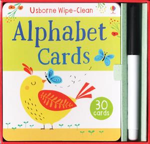 Usborne Wipe Clean Alphabet Cards cover art