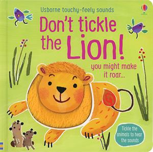 Usborne don't tickle the lion book cover art