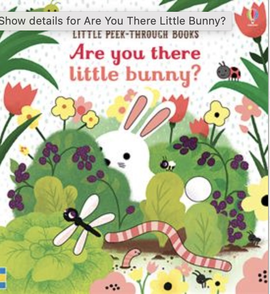 Are you there little bunny cover art
