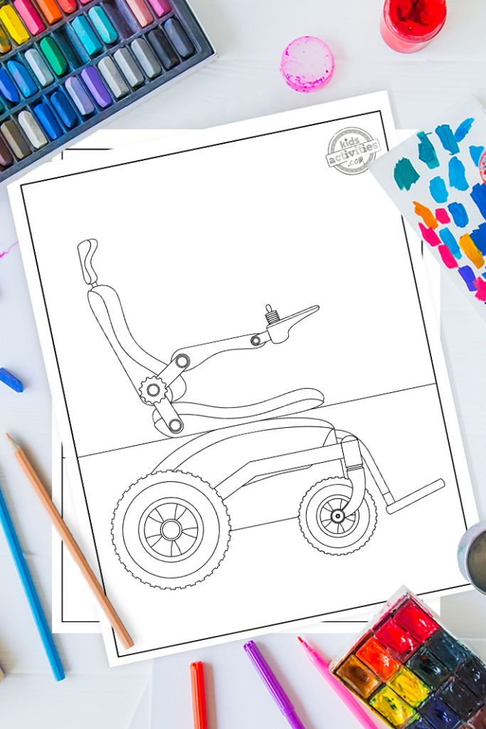 wheelchair coloring pages