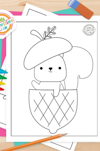 Acorn Coloring Pages Feature Image