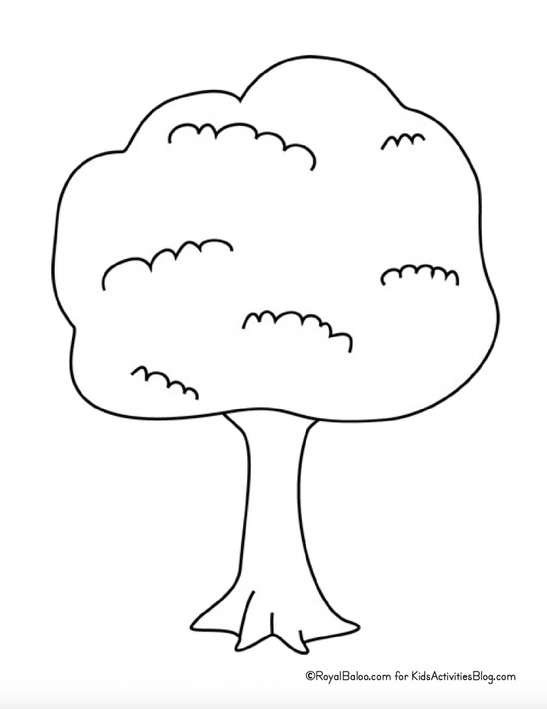 Earth Day Coloring Page - tree
