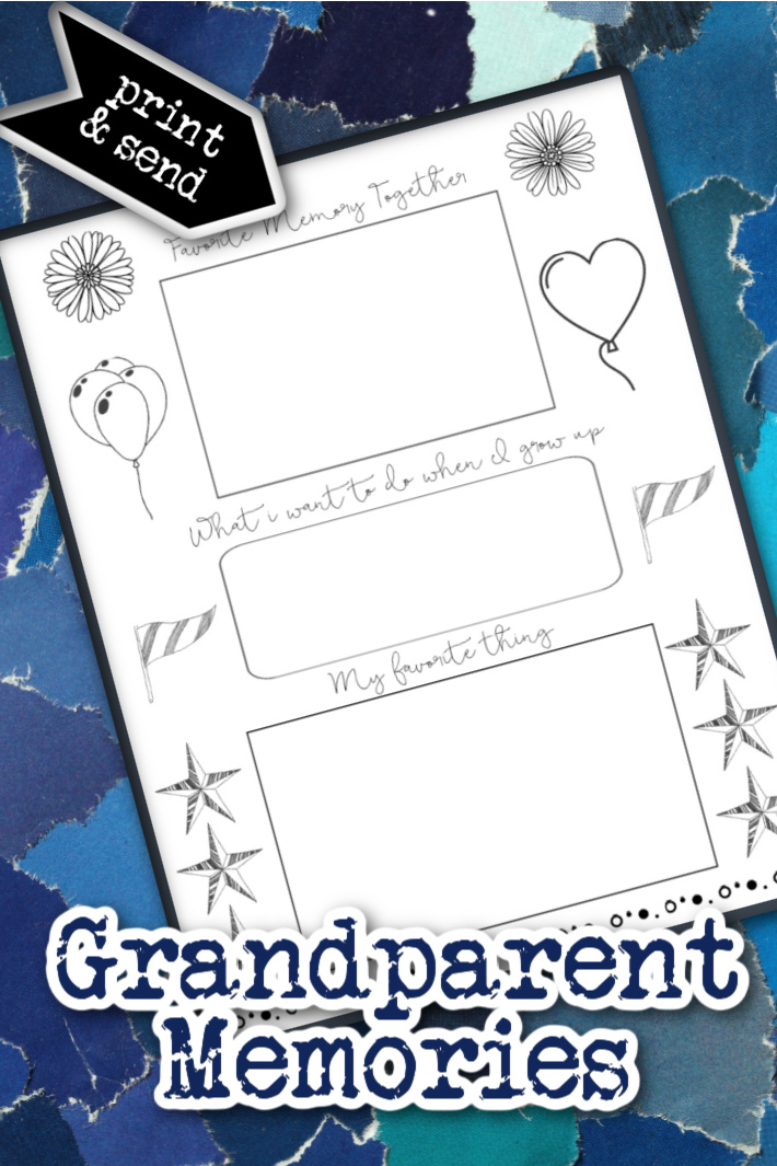 Connect with Grandparents with this Printable Memories Page