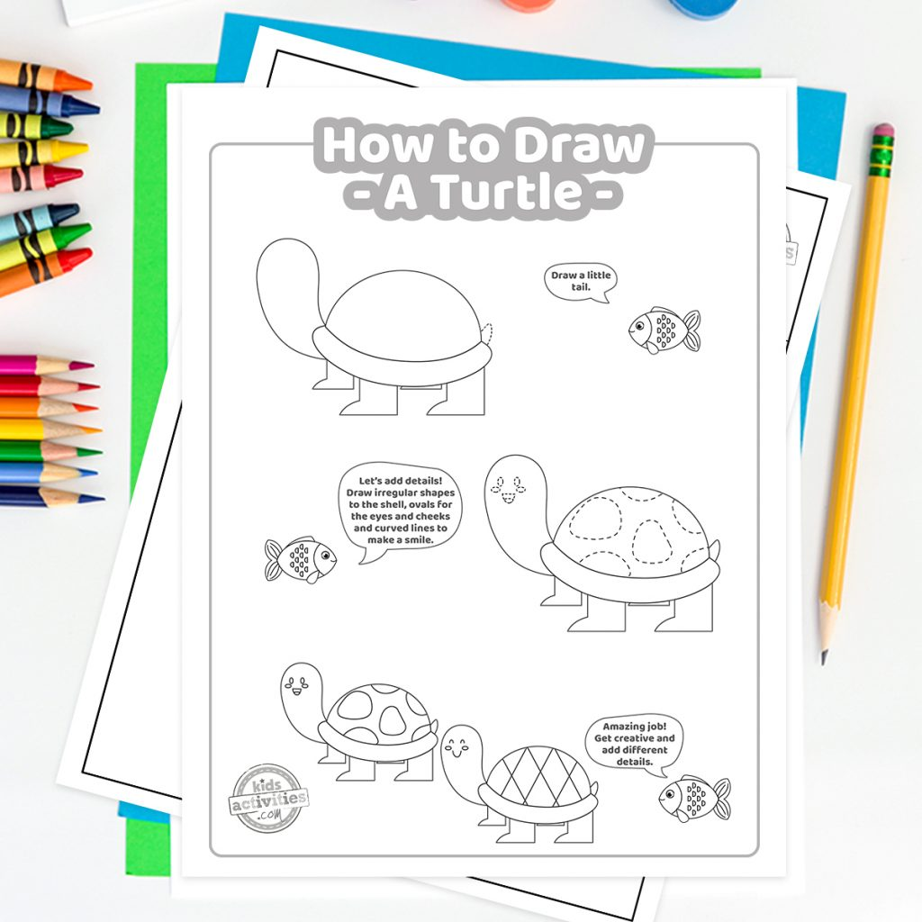 easy how to draw a turtle