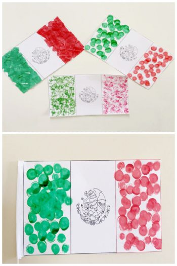 Mexican flag activities for kids using free printable mexican flag