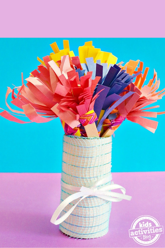 Mothers day bouquet kids can make - Kids Activities Blog