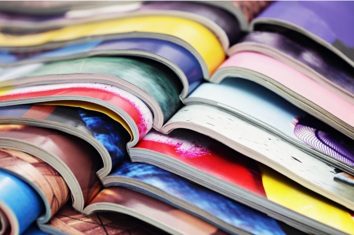 Stack of magazines for recycling - Kids Activities Blog Earth Day