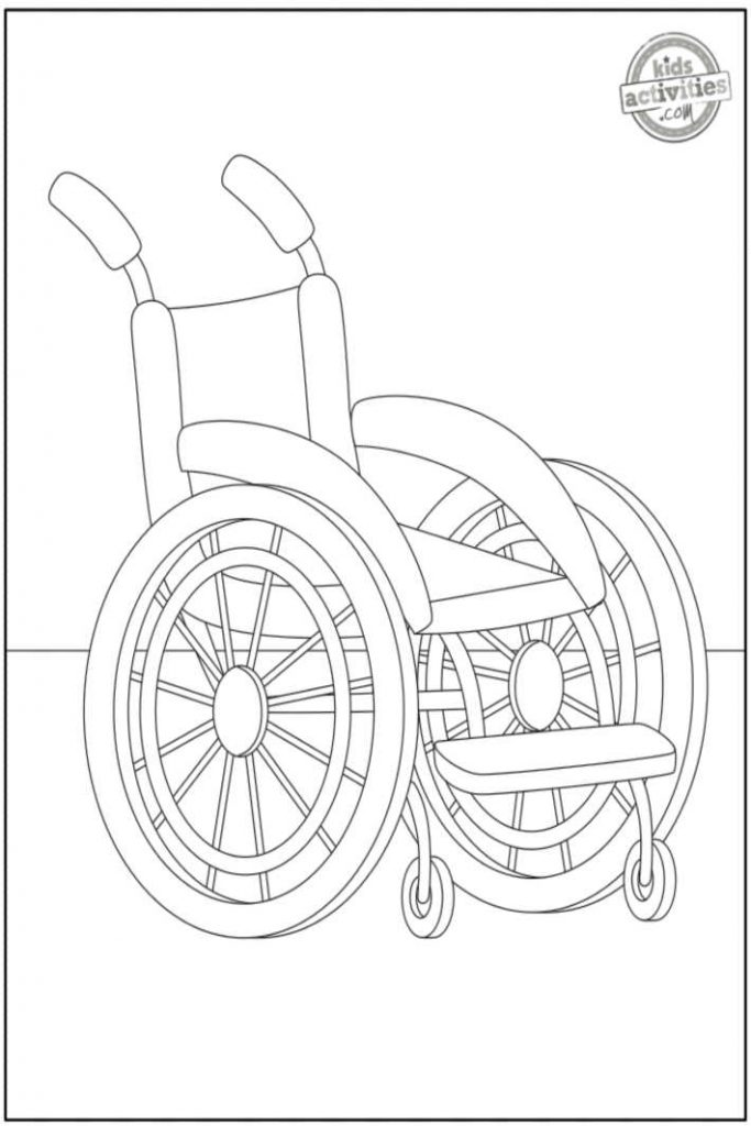 Traditional Wheelchair coloring pages 1