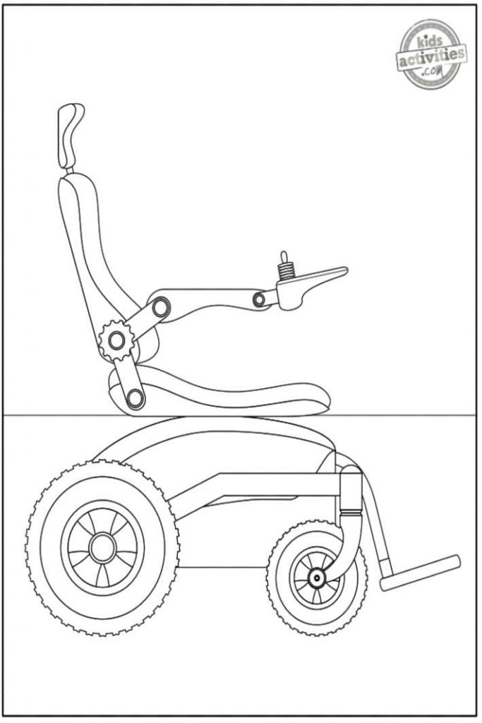 wheelchair coloring pages for kids