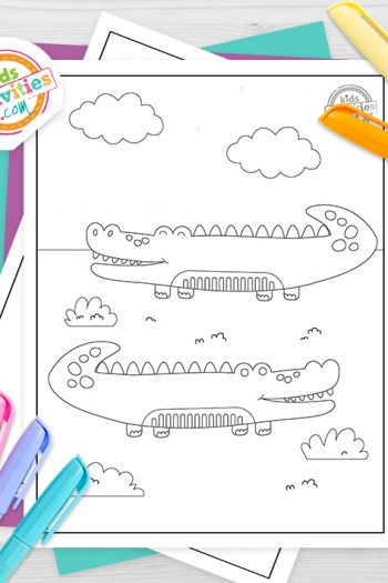 Alligator Coloring Pages Feature Image