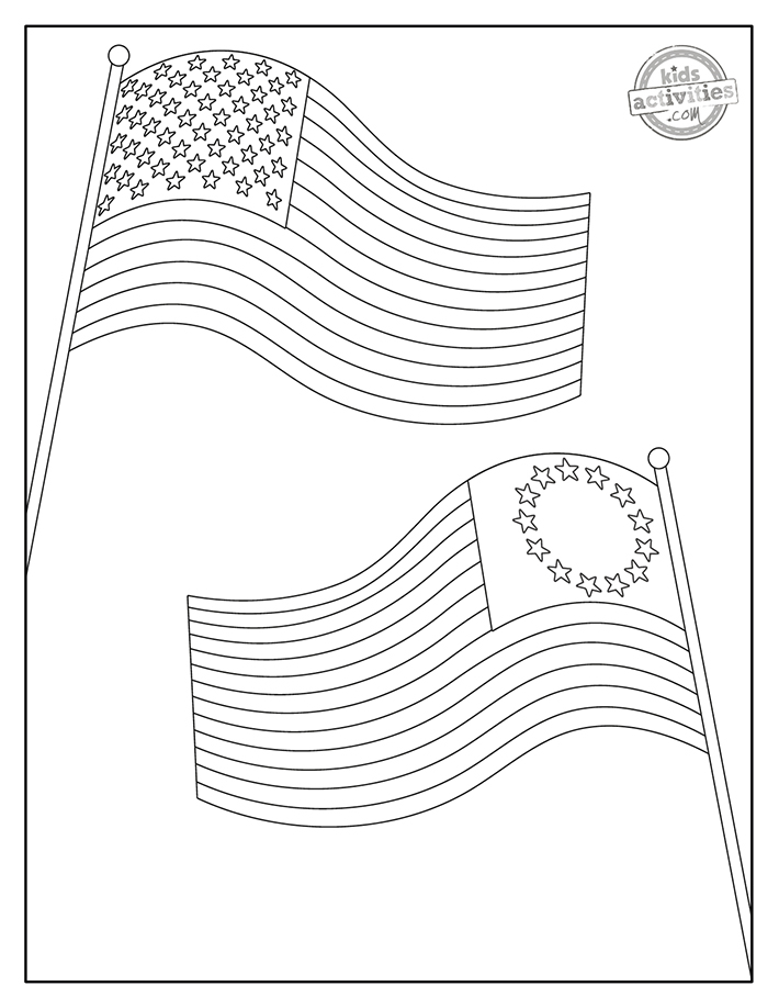 Educational Fun American Flag Coloring Pages Kids Activities Blog