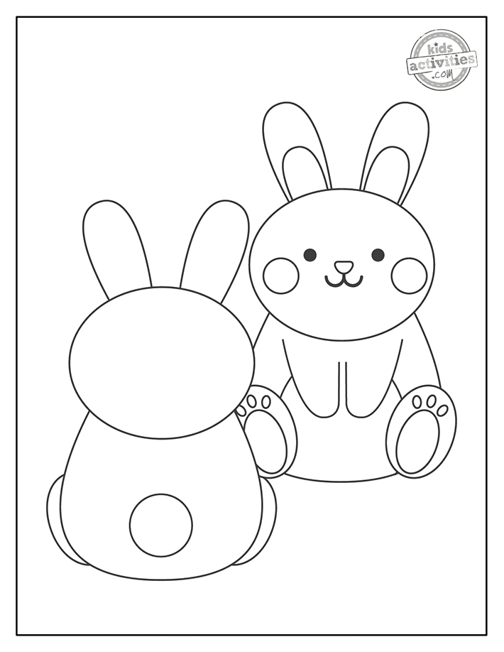 baby bunny coloring page