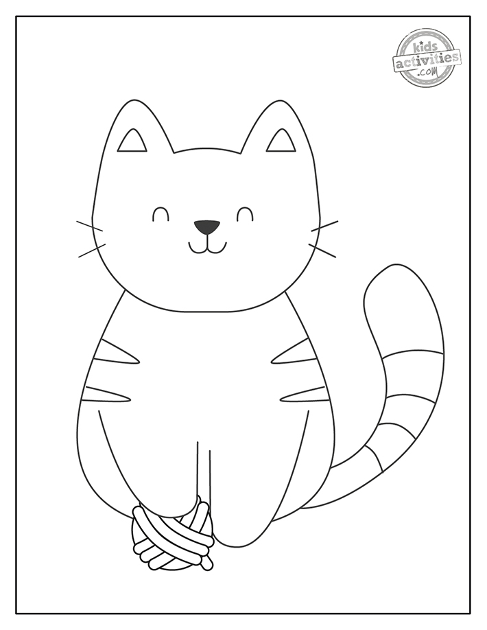 baby kitty coloring page
