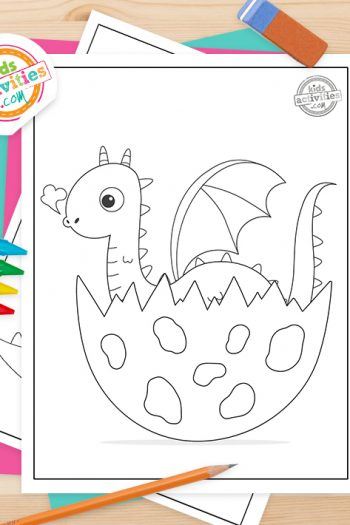 Baby Dragon Coloring Pages Feature Image