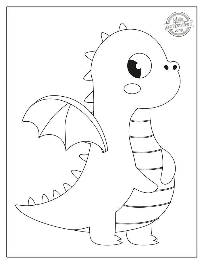 Cutest Baby Dragon Coloring Pages Kids Activities Blog