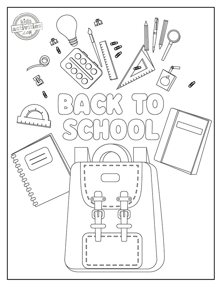 Back to school coloring pages for preschool Screenshot 2