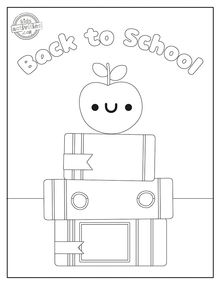 Back to school coloring pages for preschool Screenshot