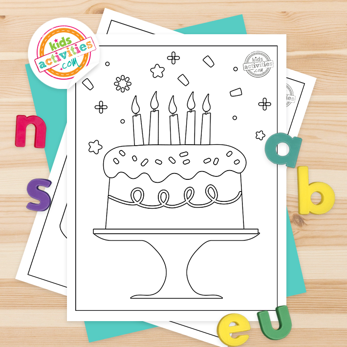 cake coloring pages printable