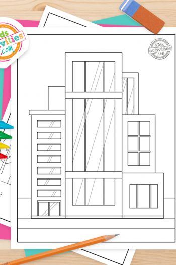 Building Coloring Pages Feature Image
