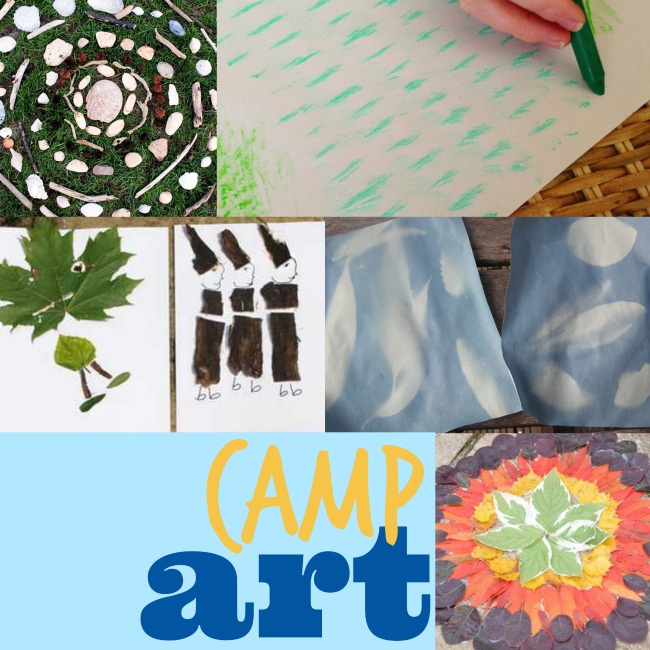 Camp art as part of the camp ideas for kids from Kids Activities Blog - 6 different summer art projects you can do as camp art pictured