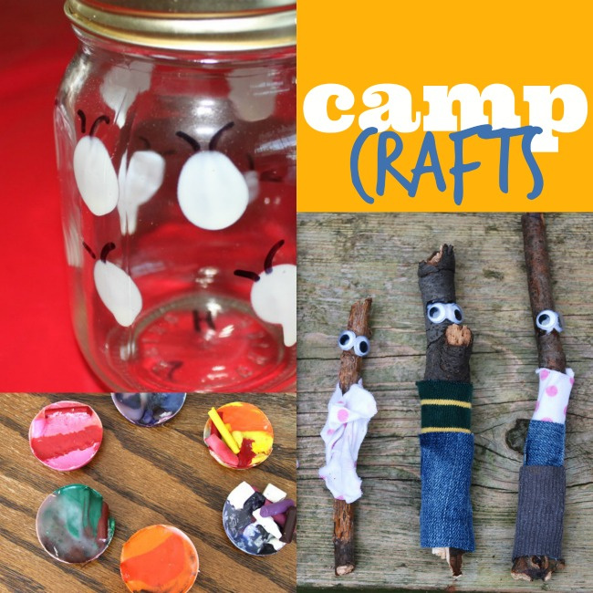 Camp crafts and camp inspired activities for kids - Kids Activities Blog - three different camp crafts pictured