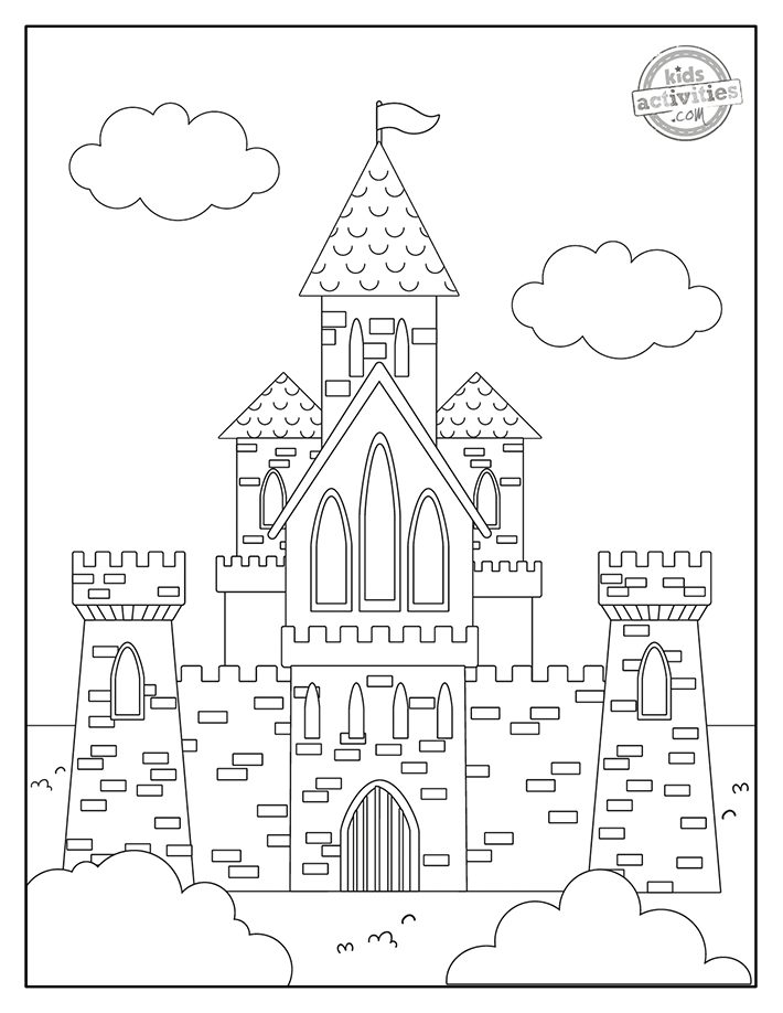 Castle Coloring Pages free