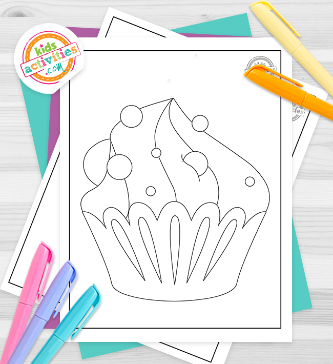 Cupcake Coloring Pages Feature Image