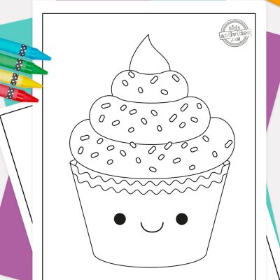 Cupcake Coloring Pages Pinterest