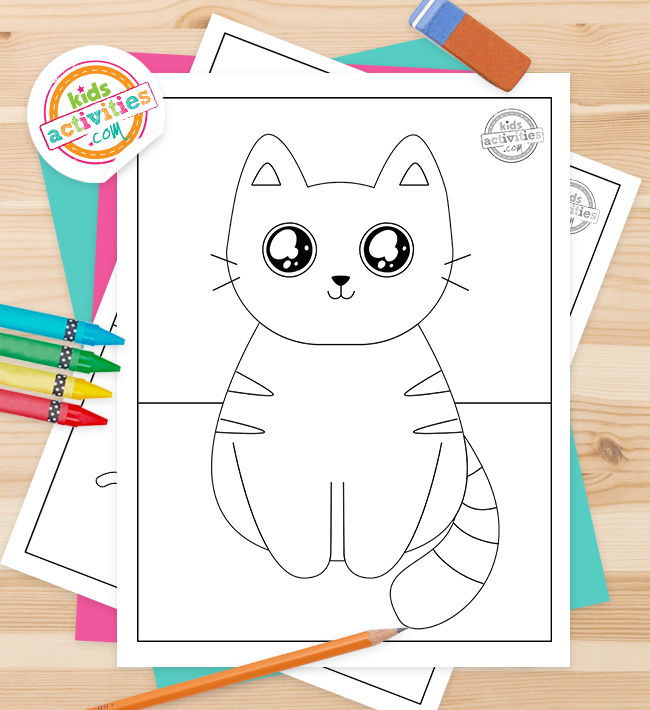 cute kitty coloring pages