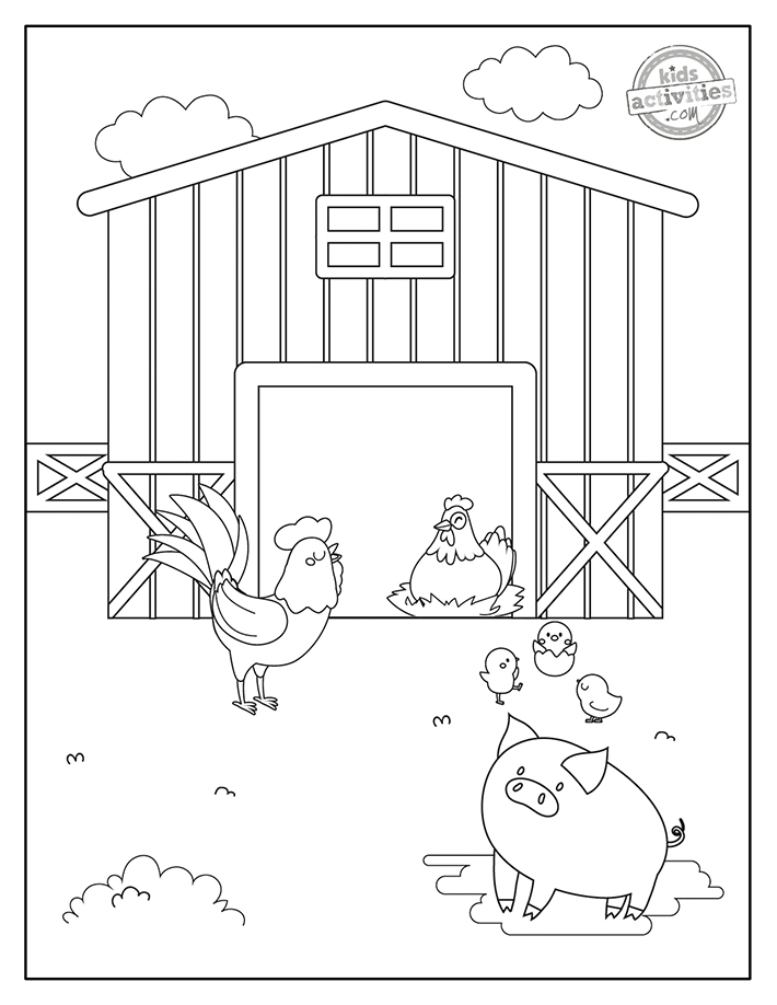 Farm Animals Coloring Pages Screenshot 2