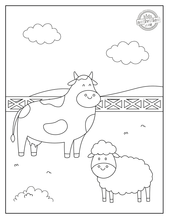 Farm Animals Coloring Pages Screenshot