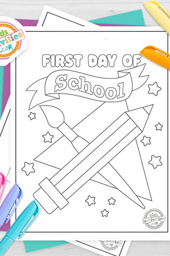 First Day of School Coloring Pages Feature Image