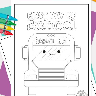 First Day of School Coloring Pages Pinterest