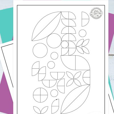 Geometric Coloring Pages Pinterest