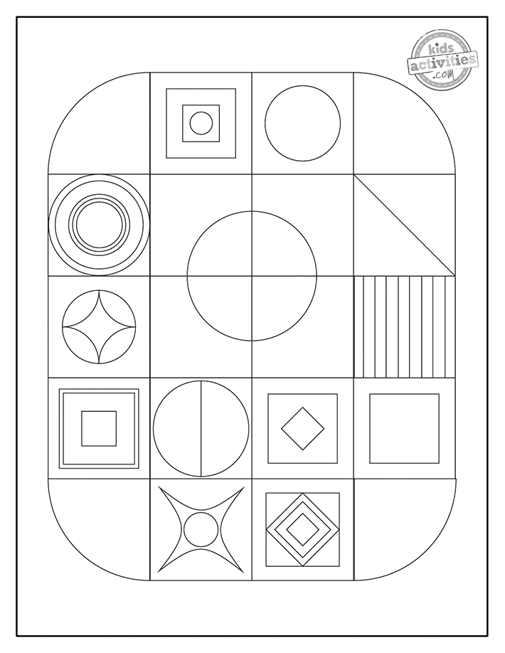 Geometric Coloring Pages Screenshot