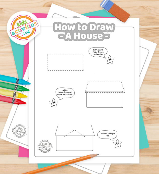 How To Draw a house coloring page Feature Image