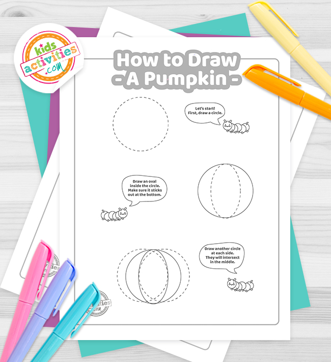 How To Draw a pumpkin coloring pages