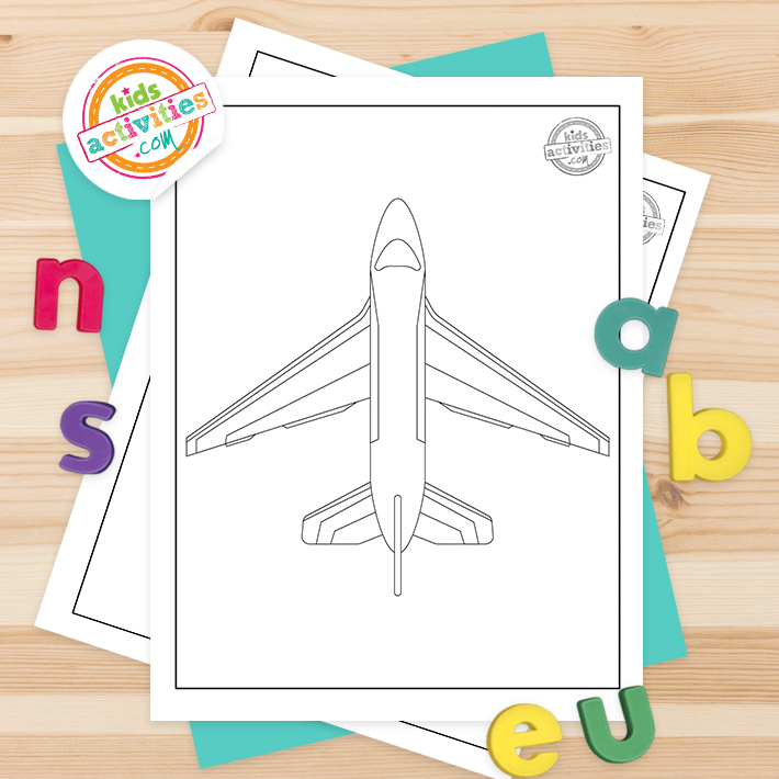 free jet coloring pages