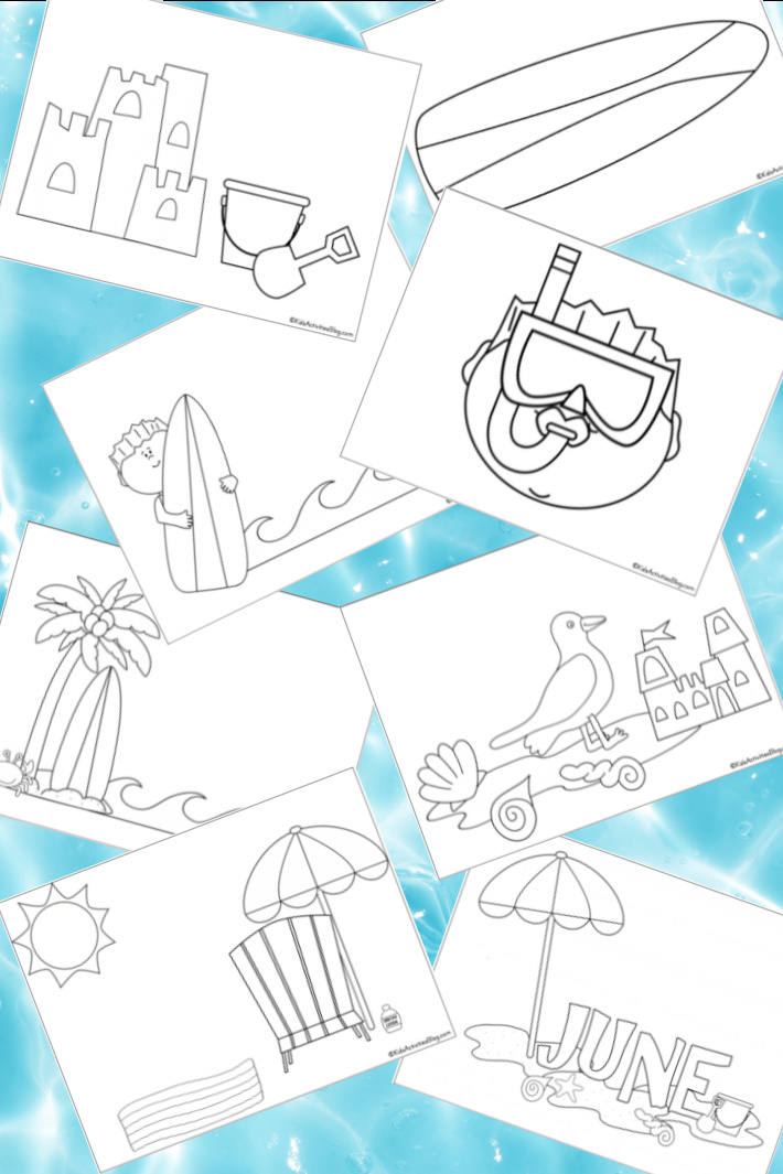 9 Free Fun Beach Coloring Pages for Kids