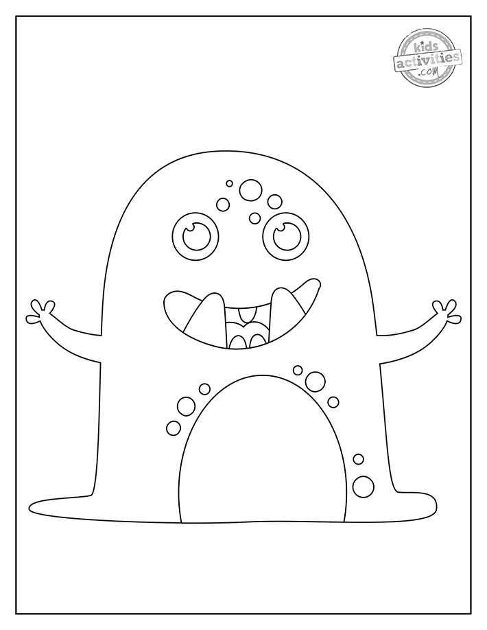 Monster Coloring Pages Screenshot