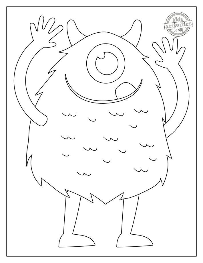 friendly monster coloring pages