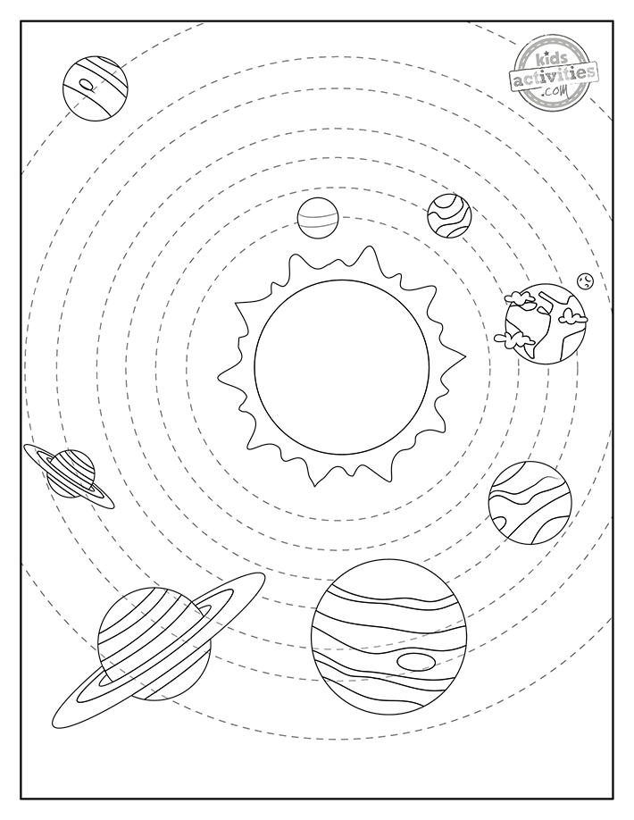 Planets Coloring Pages Screenshot 2