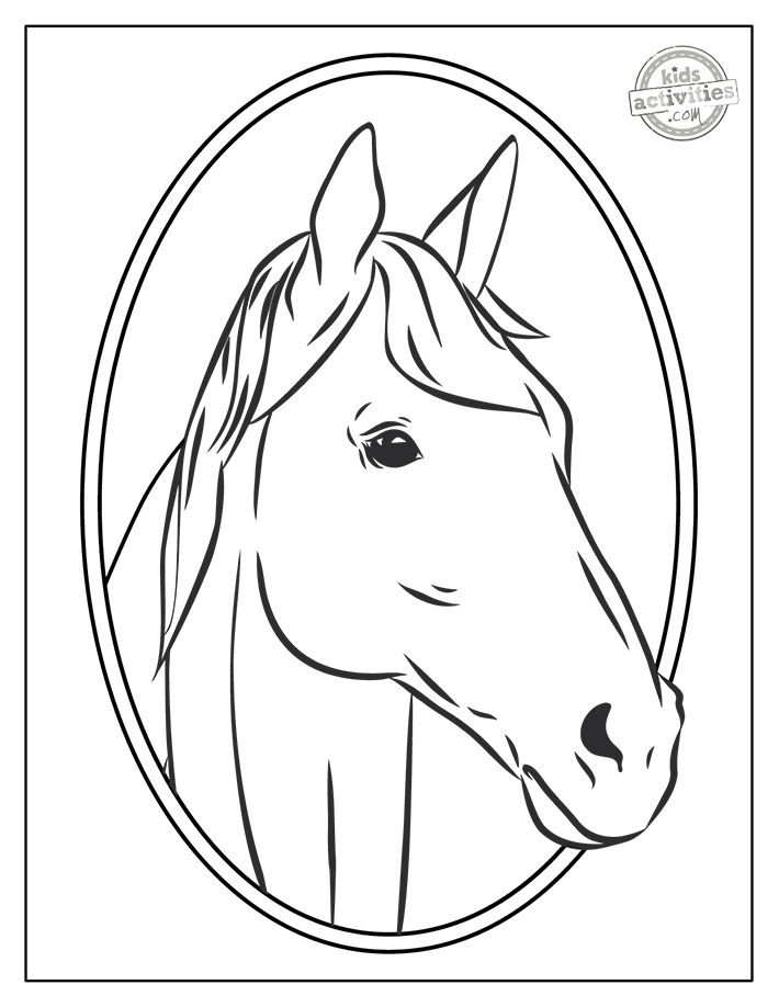 Realistic Horse Coloring Pages Screenshot