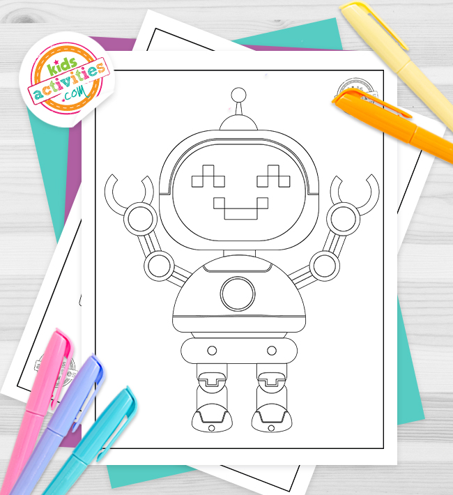 Robot Coloring Pages Feature Image