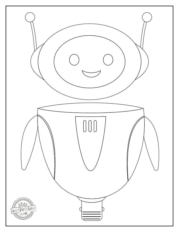 Robot Coloring Pages Screenshot 2