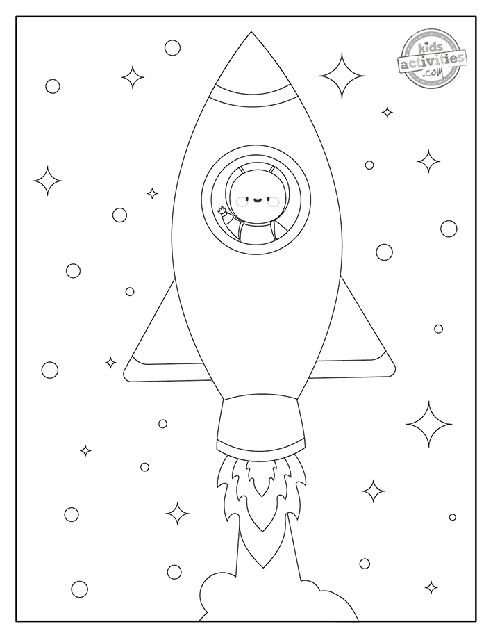 free rocket coloring pages