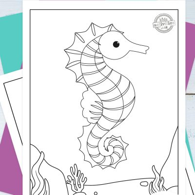 Seahorse Coloring Pages Pinterest